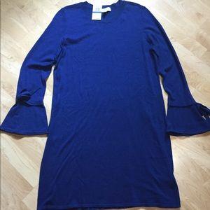 NWT Michael Kors Blue Sheath Sweater Dress